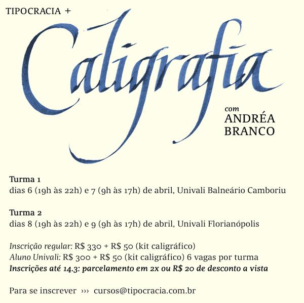Caligrafia com Andréa Branco